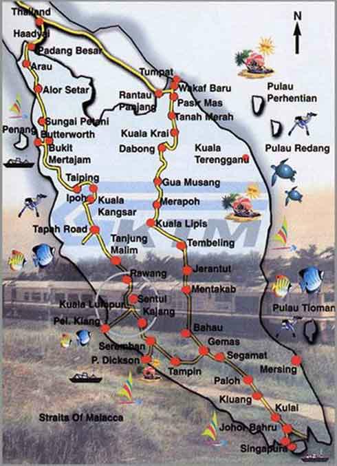 火车的路线图