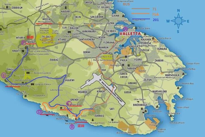 和前一天相比,我觉得第三天的行程才是囊括了马耳他主岛真正的精华