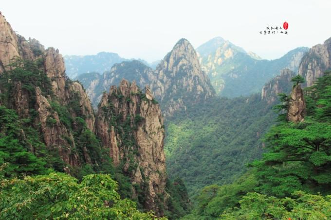 宏村风景写生近景照片
