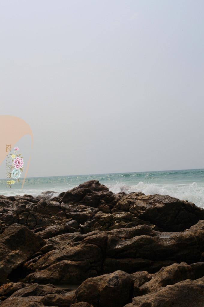 简单好看水粉风景画画大海海滩