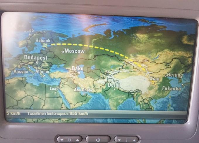飞机上的午餐和晚餐,看来全世界飞机餐都差不太多.
