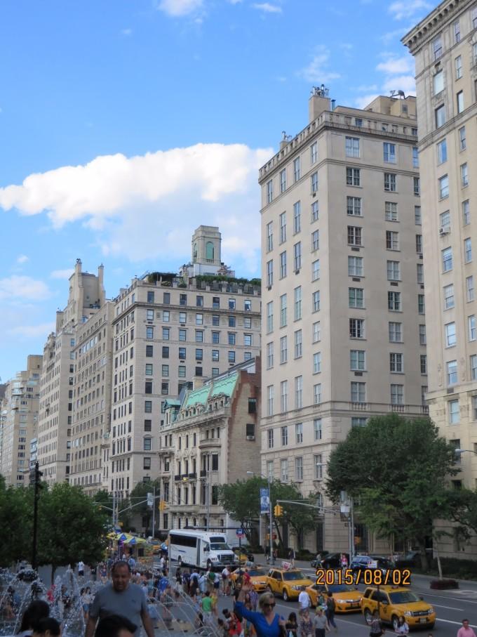 纽约街景水粉手绘图